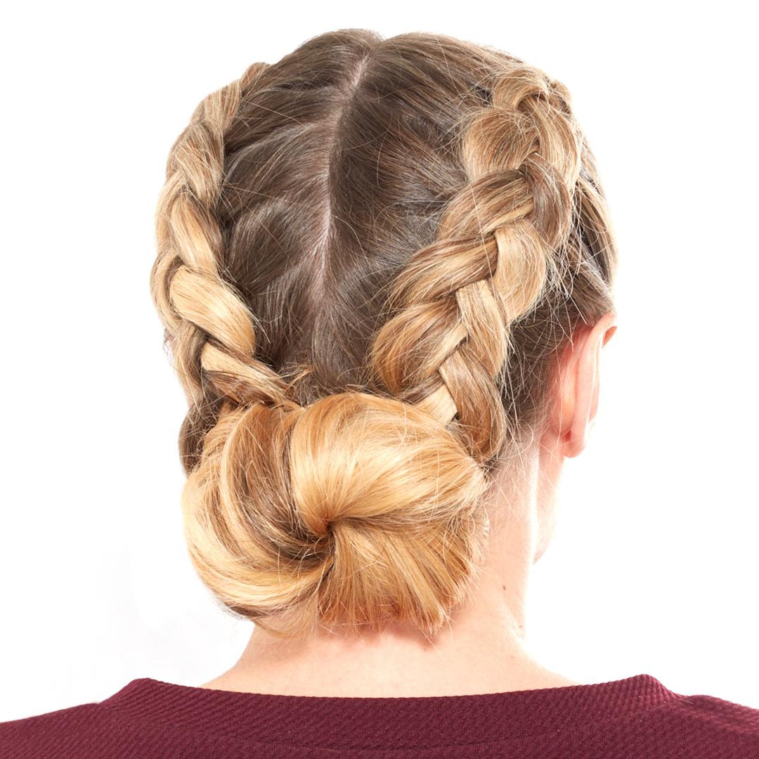 how to do a double dutch braided bun   blow ltd